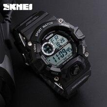 Бренд SKMEI армия камуфляж военные часы привело цифровые часы модные уличные водонепроницаемые мужские спортивные часы Montre Homme
