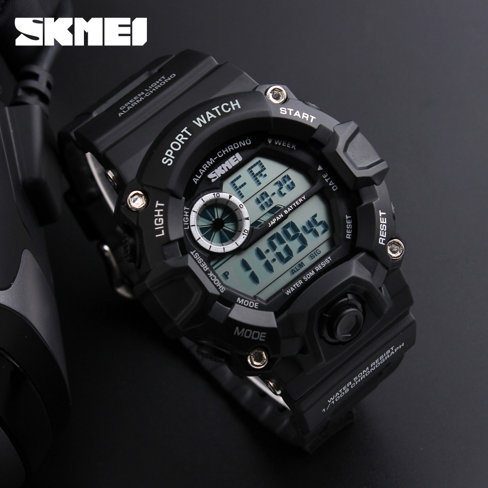 Brand SKMEI 2017 Army Camouflage Military Watch LED Digital Watches Fashion Outdoor Waterproof Men Sports Watches montre homme j2000 nvr16 v 4