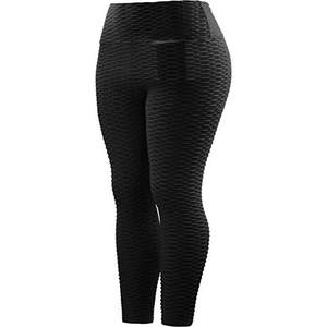 New Fitness Anti Cellulite Texture Leggings Women Pants Solid High Waist Workout Wrinkle Leggings Pants anti cellulite  J42