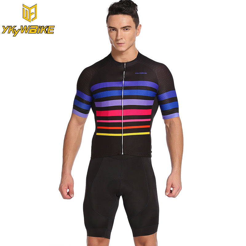 YKYWBIKE Summer Men Cycling Jersey Set 2017 Pro Team Sets Ropa Ciclismo Short sleeve Bicycle Wear Breathable Quick Dry Jersey
