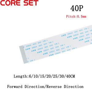 10Pcs/lot Flat flexible cable 40P FFC FPC LCD cable AWM 20624 80C 60V VW-1 FFC-0.5MM 40Pin(China)