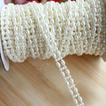 5yards /lot 9mm  Pearl Jewelry DIY Making Findings White Flatback Pearl Chain Roll Of Pearl Strand For Crafts Y1065