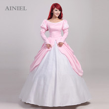 2017 cosplay ainiel princesa sirena traje de princesa women dress n-301