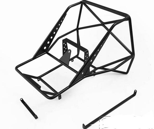 10 Rc Metal Roll Cage With Spare Wheel Rack For Rc4ds Tf2