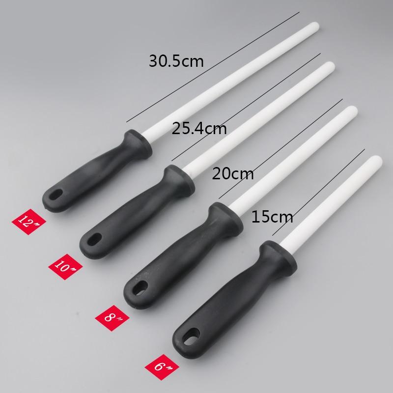 Rod Sharpening Helper Steel-Knives Ceramic Kitchen Zirconia Chefs 1pcs With Abs-Handle
