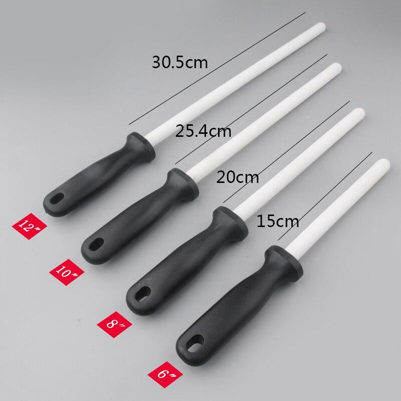 1 pieza de cerámica (unids zirconia) barra afilador de cuchillos con mango ABS afilador para cuchillos de acero Chefs Asistente de cocina musat