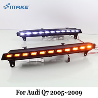 Smrke DRL для Audi Q7 2005 ~ 2009/2 цвета водить автомобиль Габаритные огни и 12 В поворотах лампа/car стайлинг противотуманные фары украшения