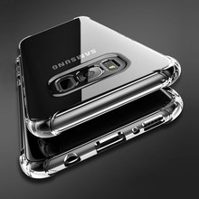 Schokbestendig Clear Silicone Case Voor Samsung Galaxy S6 S7 Rand A3 A5 A7 J3 J5 J7 2017 S8 S9 Plus note 8 9 A6 A8 Plus A7 2018 Cover(China)