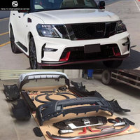 Y62 PP Unpainted Car body kit front Rear bumper Side skirts for Nissan Patrol Y62 Nismo style 12 17