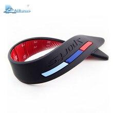 Faixa protetora do pára-choque do carro, adesivo de silicone para proteção das bordas para bmw, acessórios de carro