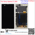 Teste lcd screen display original para sony xperia z l36 l36h l36i c6603 toque digitador display + quadro assembléia preto/branco/roxo