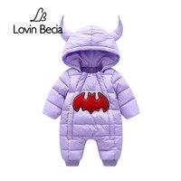 Lovinbecia Infant Rompers Winter Demon Horns Suits Newborn Boys Girls Romper Baby Jumpsuit Hooded Kid Keep