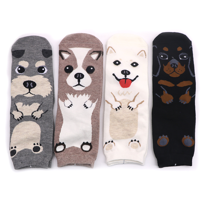 1Pair Cartoon Cute   Socks   Funny Sokken Woman Ankle   Socks   Short Character Animal Kawaii Novelty Dog   Socks   with Print Meias