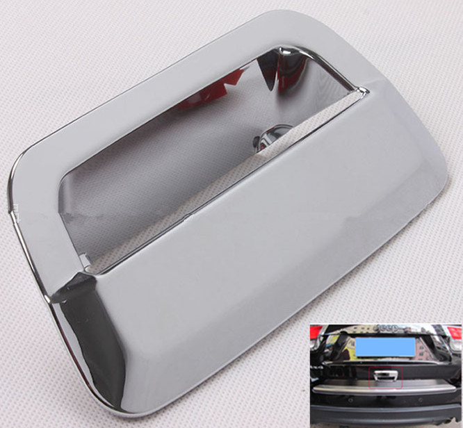 FUNDUOO Chrome Rear Boot Trunk Door Handle Cup Bowl Cover Trim Sticker For JEEP Grand Cherokee 2011 2012 2013 2014 4 pcs chrome plated abs door handle bowl for nissan qashqai
