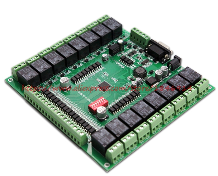 Free Shipping    Switch Acquisition Control Module, 16 Inputs, 16 Relay Output, USB Interface