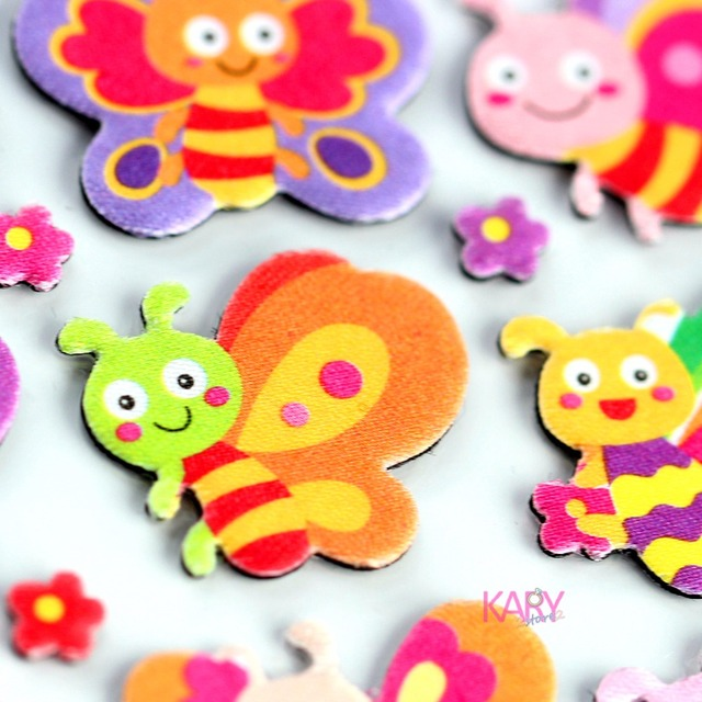 US $1 29 |Cute Bee Butterfly Animals Sweet Honey Scrapbooking Bubble  Fabrics Stickers High Quality Special Emoji Reward Kids Children Toys-in  Stickers