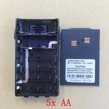 honghuismart 5xAA battery case box with belt clip for WouXun KG-UVD1P,KG-659,KG669,KG-679,KG689,KG699E walkie talkie KG-2A-1