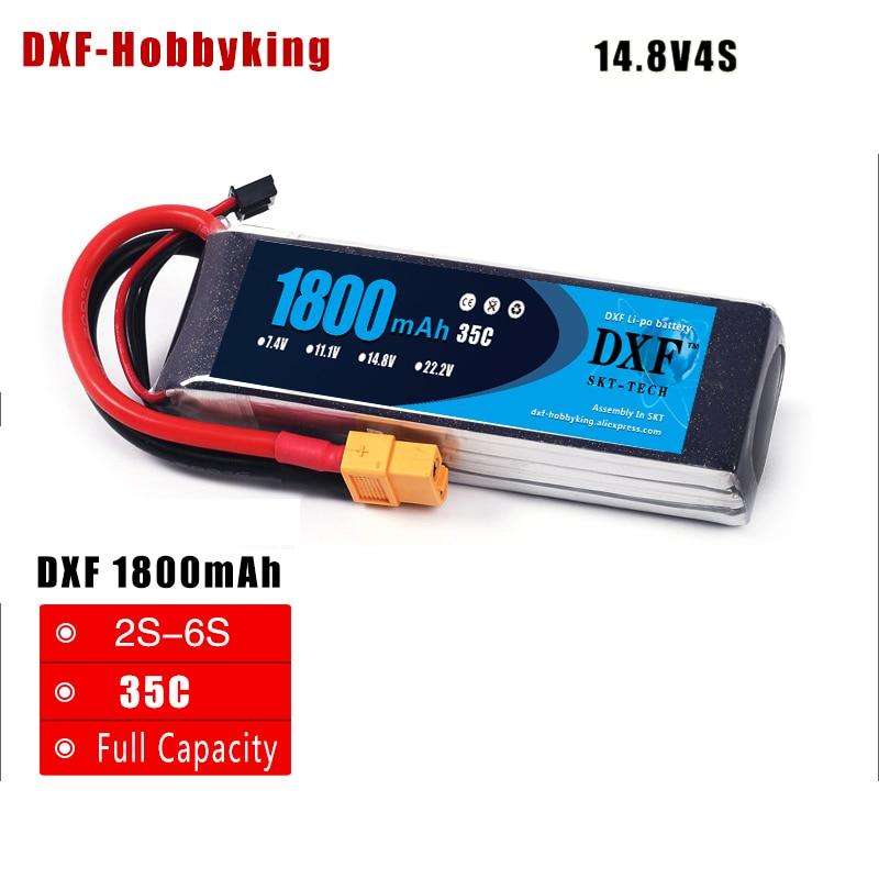 2017 DXF LiPo batería 4 S 14.8 V 1800 mAh 35 C max 60 C Para RC - Juguetes con control remoto