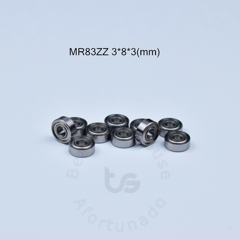 MR83ZZ 3*8*3(mm) 10pieces Free Shipping Bearing ABEC-5 Bearing Metal Sealed Miniature Bearing MR MR83 Chrome Steel Bearings