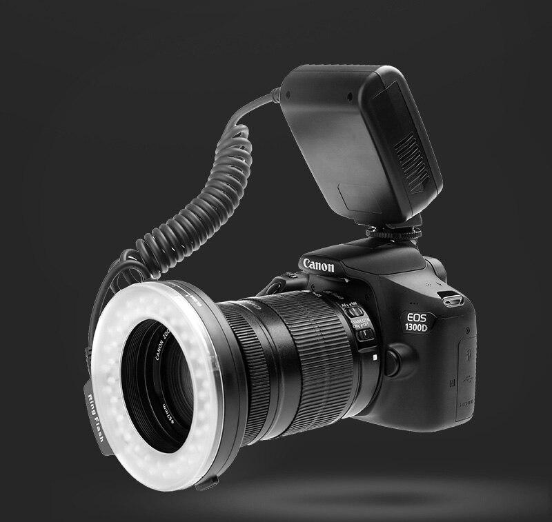 Travor RF 550D LED Macro Ring Flash light with 8 adapter ring For Nikon Canon Panasonic Camera 26