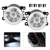 1Pair 9 LED Front Fog Lamps DRL Daytime Running Driving Lights For Infiniti G37 2010 Nissan