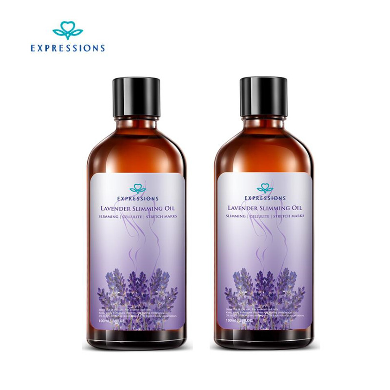 2PC 200ML Lavender Oil Essential Slimming Lose Weight Loss Products Hot Slimming Oil Fat Burning Thin Leg Waist Massage Oil Body