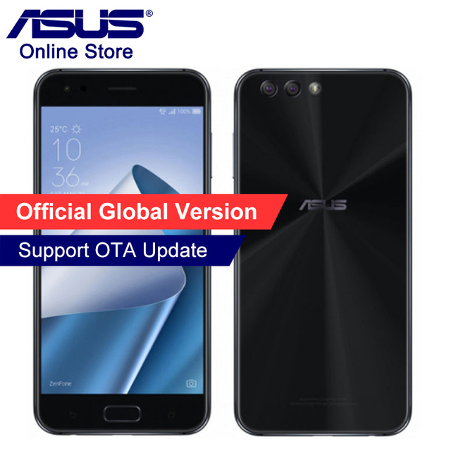 Global ASUS ZenFone 4 ZE554KL Mobile Phone 4GB RAM 64GB ROM Android 7.1.1 5.5'' Dual Rear Cameras Qualcomm Octa Core Smartphones