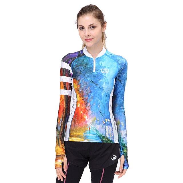 32c3c8692 Mountainpeak 2017 New Design Spring Summer Sport Jacket Partial Zipper  Running Cycling Jersey Outdoor Long Sleeve T-shirt