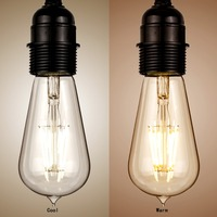 E27 ST58 6W Dimmable Retro Edison Filament LED COB Bulb Warm Light Lamp Beautiful And Elegant
