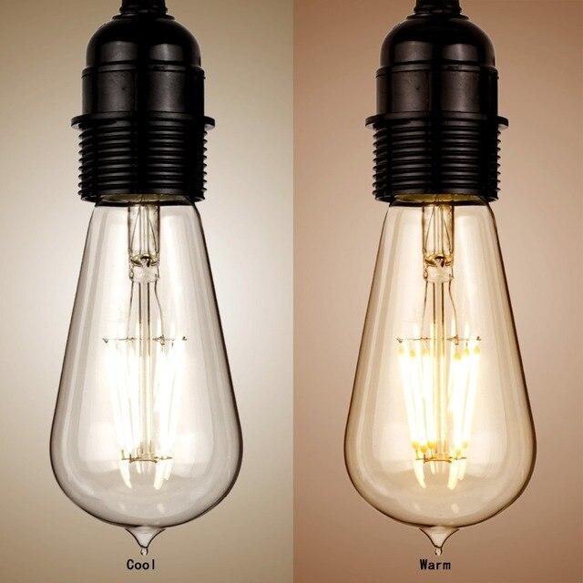 E27 ST58 6 Watt Dimmbare Retro Edison Filament COB Led birnen ...