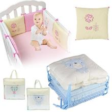 6Pcs/Set Baby Crib Bed Bumper Cushion Fence Cover Cotton Baby Protector Safety
