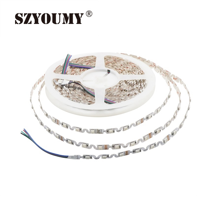 LED Strip 5050 DC 12V Non waterproof IP20 For Holiday Christmas Party Indoor Decoration S Shape LED Strip Ribbon Lamp Tape