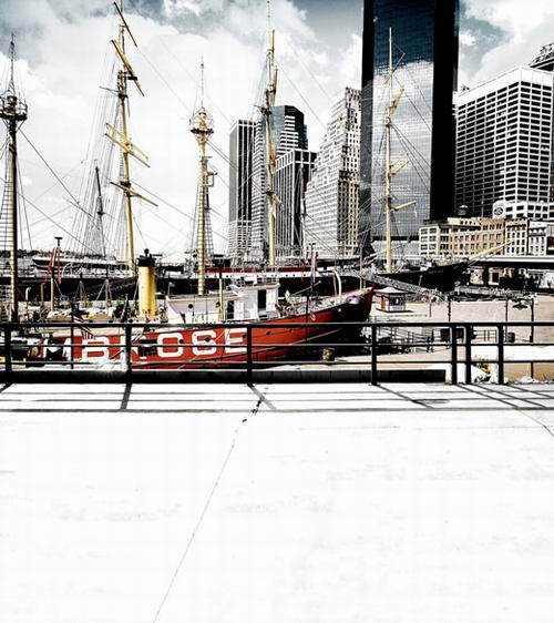 Sailboat 6x8 FT Backdrop Photographers,Hong Kong Harbour Skyline Architecture Buildings Cloudy Sky Ship Cityscape Background for Baby Birthday Party Wedding Vinyl Studio Props Photography