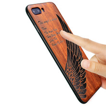 2018 Nuovo Huawei Honor Vista 10 Caso Sottile di Legno Del Telefono Della Copertura Posteriore di TPU Cassa Del Respingente Per Huawei Honor V10 Custodie honor 10