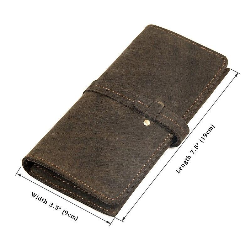 Long Purse  Men Wallet  Mens  Genuine Leather Solid WalletLong Purse  Men Wallet  Mens  Genuine Leather Solid Wallet