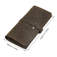 Long Purse Men Wallet Men's Genuine Leather Solid Wallet