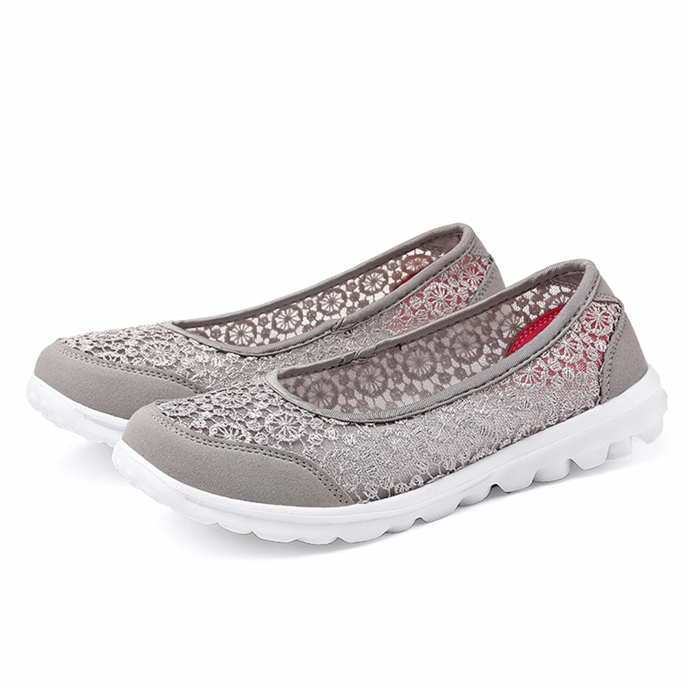 Women Flats Shoes Comfortable Flat Mesh Fabric Spring Summer Shoes Female Zapatos de mujer Slip On Shoes For Women