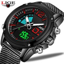 Relogio Masculino 2019 Nieuwe LUIK Heren Horloges Topmerk Luxe Militaire Sport Digitale Horloge Mannen Business Waterdicht Quartz Klok(China)