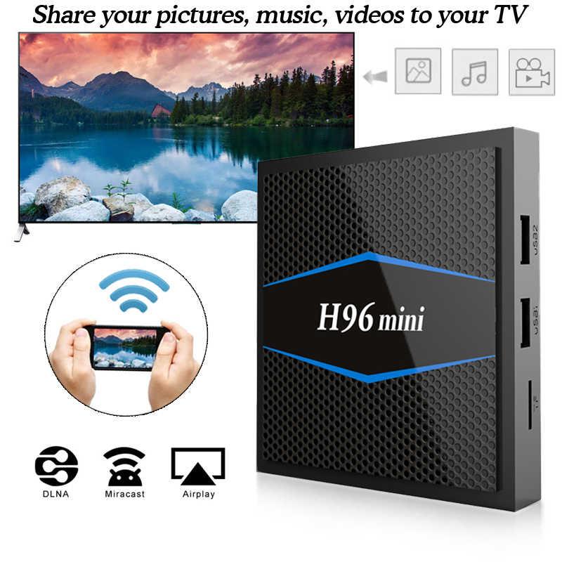 H96 mini Smart tv box android 7.1 2 gb 16 gb Amlogic S905W Quad Core H.265 4 k 2.4g/5 ghz wiFi lecteur multimédia pk X96 mini tv box