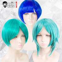 HSIU High Quality Hoseki No Kuni Cosplay Wig Phosphophyllite Costume Play Woman Short Adult Wigs Halloween