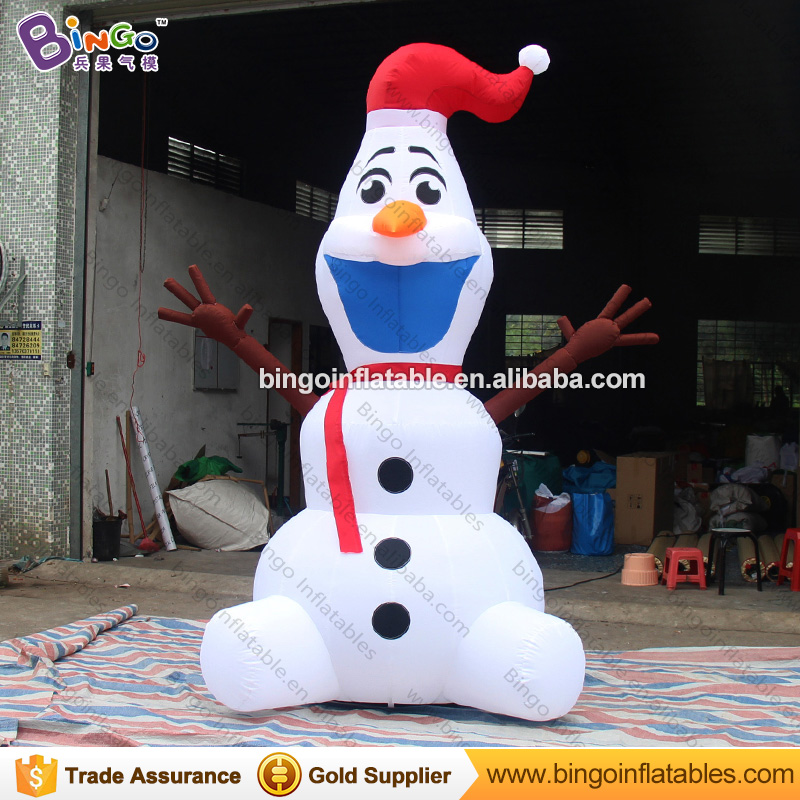 Free shipping Christmas Inflatable Frosty Snowman Model Customized Decorative blow up Snowman Replica For Backyard Toys inflatable cartoon customized advertising giant christmas inflatable santa claus for christmas outdoor decoration