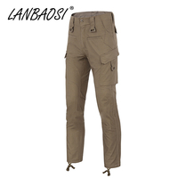 LANBAOSI Men's Combat Pants Casual Camo Army Military Tactical Pant Work Cargo Trousers Multi Pockets Waterproof Plus Size