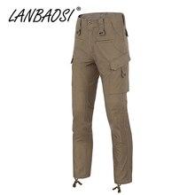 LANBAOSI pantalones de combate para hombre Casual Camo ejército militar tácticos trabajo Cargo Multi bolsillos resistente al agua talla grande