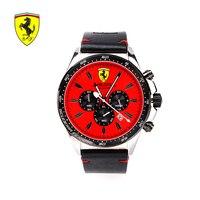 Роскошные бренды Ferrari Новинка 2018 года красный циферблат для мужчин часы для мужчин спортивные Модные непромокаемые Мужские кварцевые