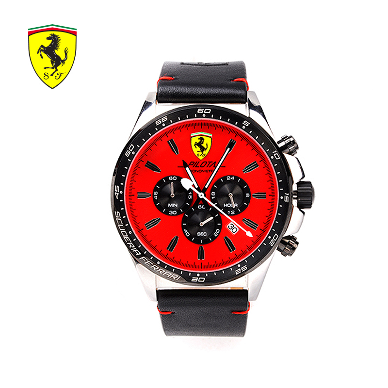 Luxury Brands Ferrari 2018 New Red Dial Men Watch Men's Sports Fashion Waterproof Male Quartz Watch Trendy Casual Wrist Watches цена 2017