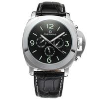 2015 JARAGAR Luxury Watches Men Auto Mechanical Watches 4 Hands Date Day Tourbillon Mens Wristwatch Xmas