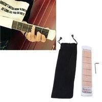 Portable Pocket Guitar Acoustic Practice Tool Gadget Chord Trainer 6 Fret Bag Guitar Practice Tool For
