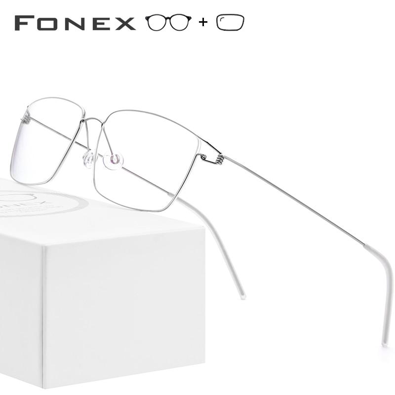 Titanium Alloy Optical Prescription Glasses Frame Men Eyeglasses 2019 New Women Brand Designer Myopia Korea Screwless Eyewear