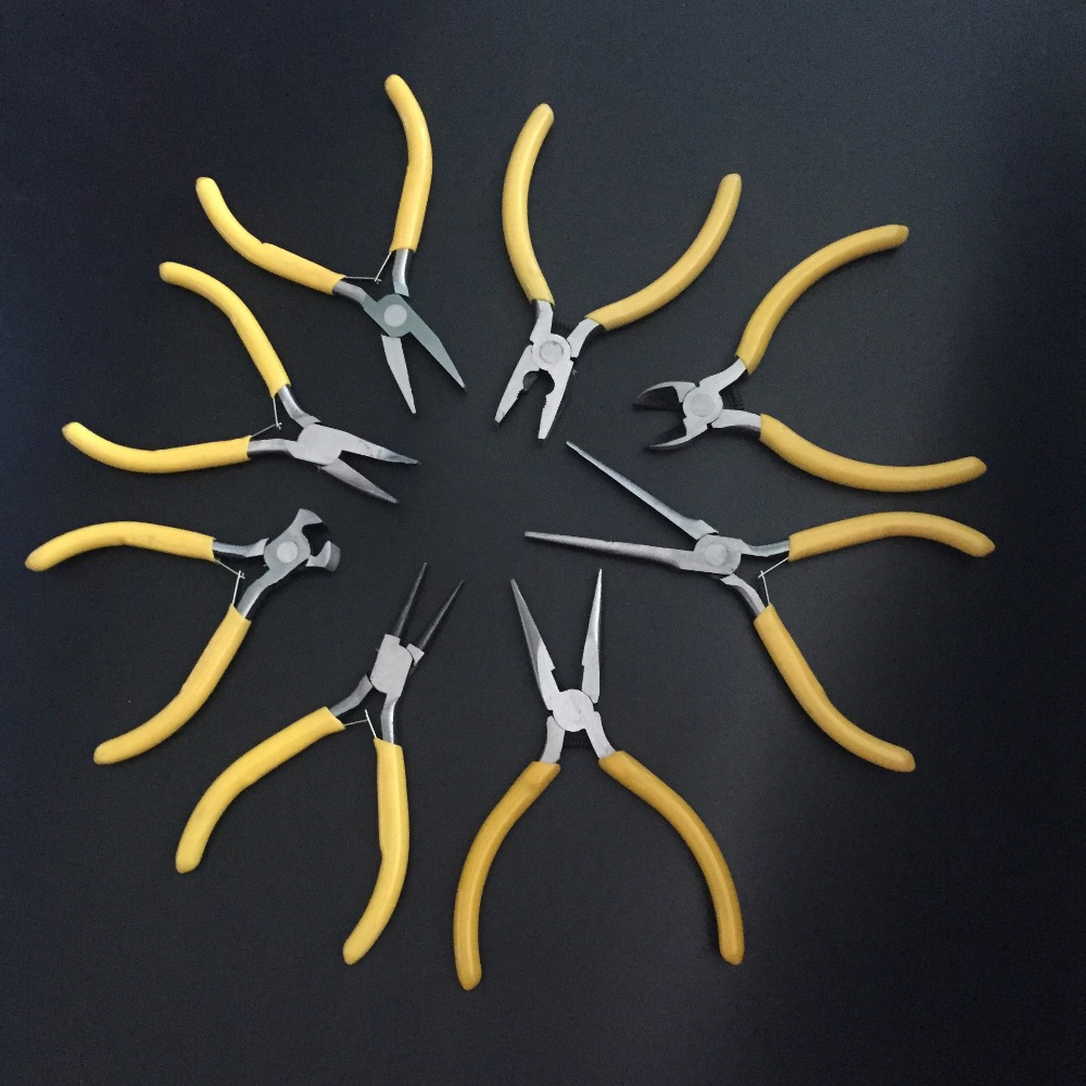 8 Pec/Set 4.5 Inch Mini Pliers Practical Mini Pliers Nipper Hand Tools Electrical Wire Cable Cutters For Cutting itechor 8 inch 200mm flat nose glass cutting nipping running pliers household hand tool black handle
