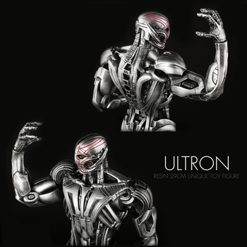 Pandadomik Ultron Large Size Cool Resin 12inch Toy Figure Model Statue Avengers Action Toy Figurine Marvel Toys Kids Gifts Man